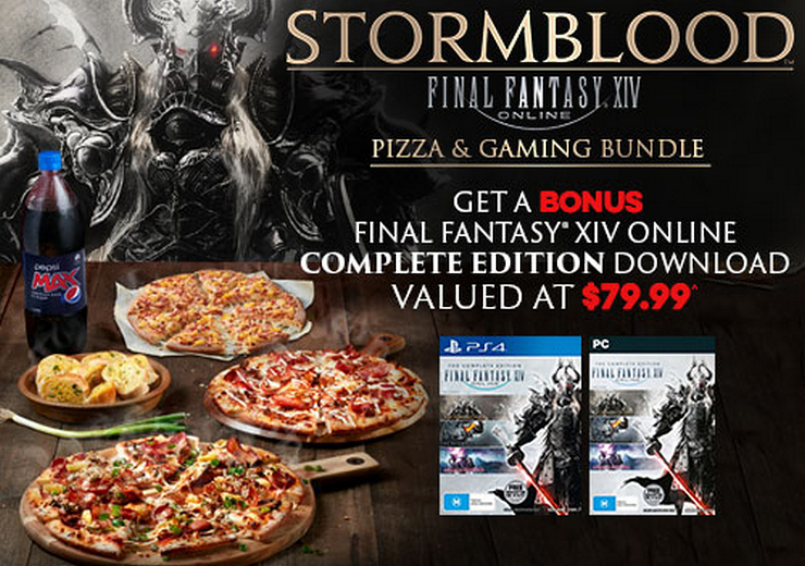 Get Final Fantasy XIV Free, from Domino's Pizza, in Australia