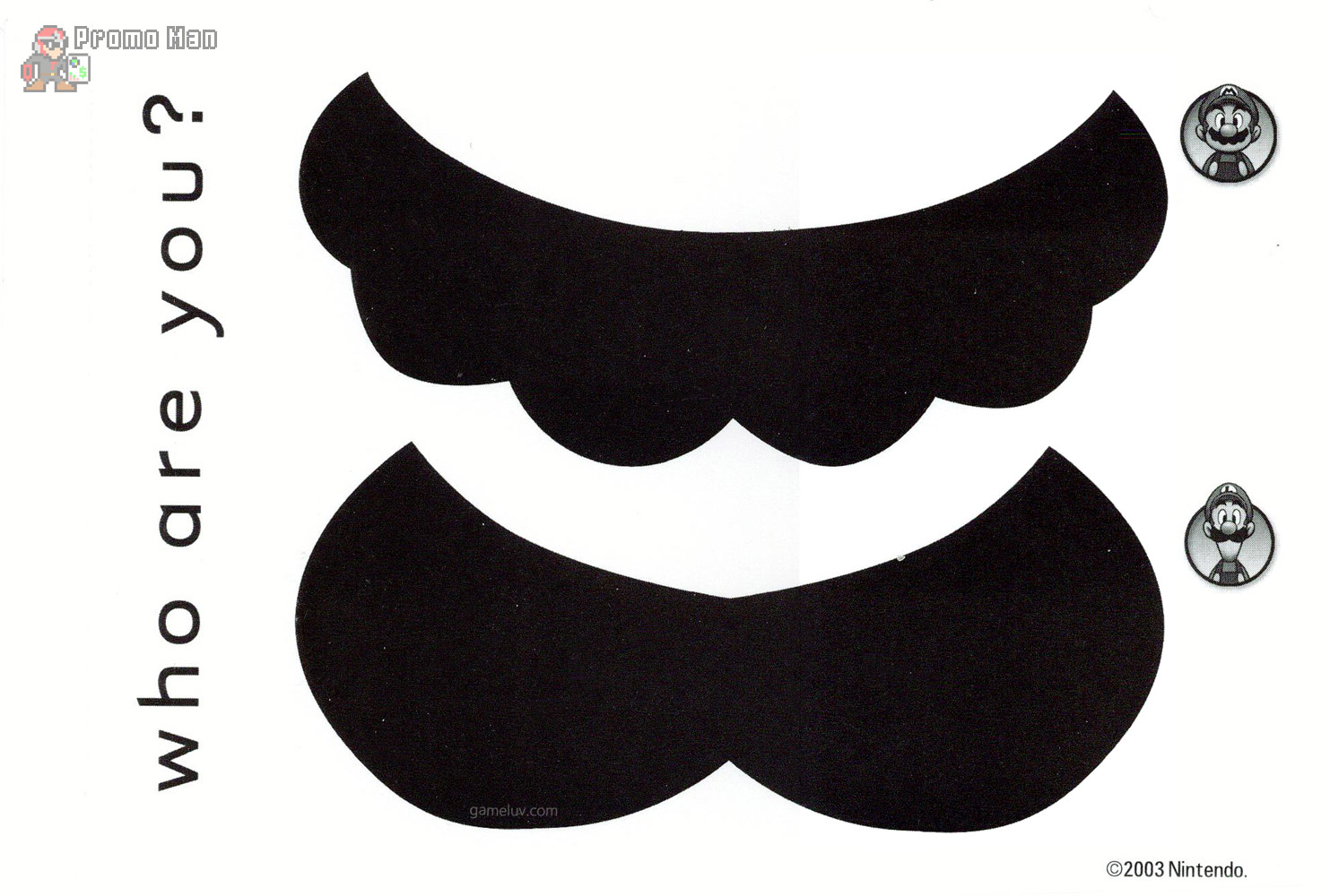 Mario Mustache that people think is the Batman Logo until you tell ...