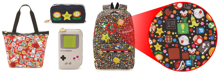 Gaze closely upon the 'LeSportsac x Nintendo' Goods